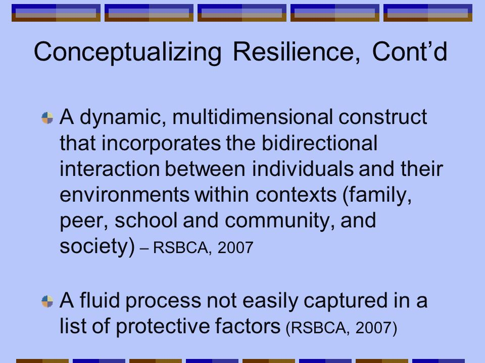 Resilience: How it Functions In addition to questions about the definition of resilience, there are also questions about how it functions.