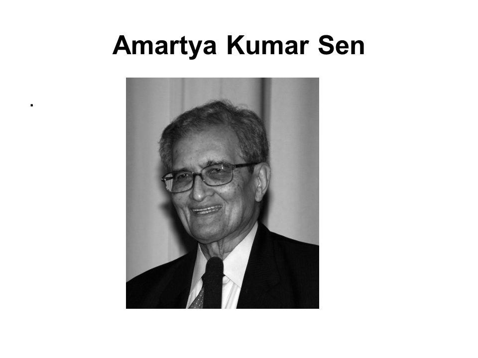 Amartya Kumar Sen.