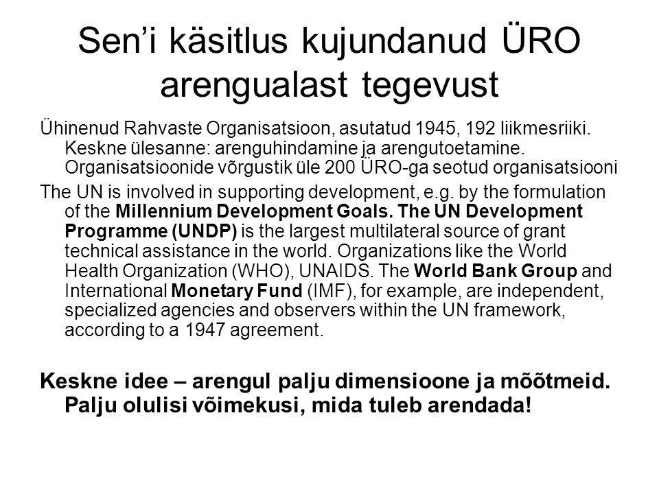 Sen'i käsitlus kujundanud ÜRO arengualast tegevust Ühinenud Rahvaste Organisatsioon, asutatud 1945, 192 liikmesriiki.