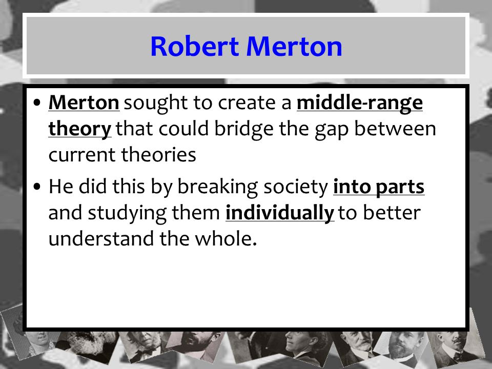 This idea is widely accepted in sociology today, as most sociologists have an area of expertise be it race, gender, crime, inequality, population, or a host of other issues.