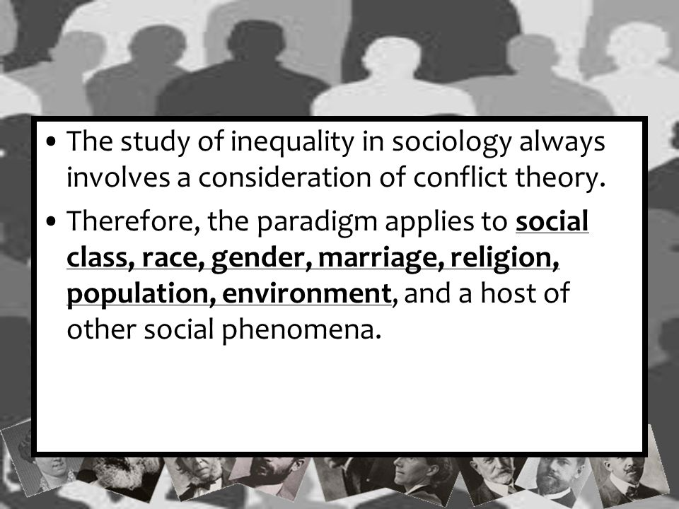If you believe that discrimination, ageism, sexism, racism, and classism occur in society because some people have the power to promote their desires over others'; then you think like a conflict theorist.
