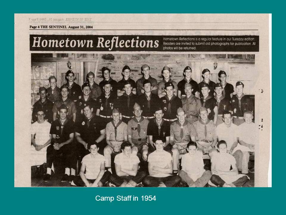 Camp Staff in 1954