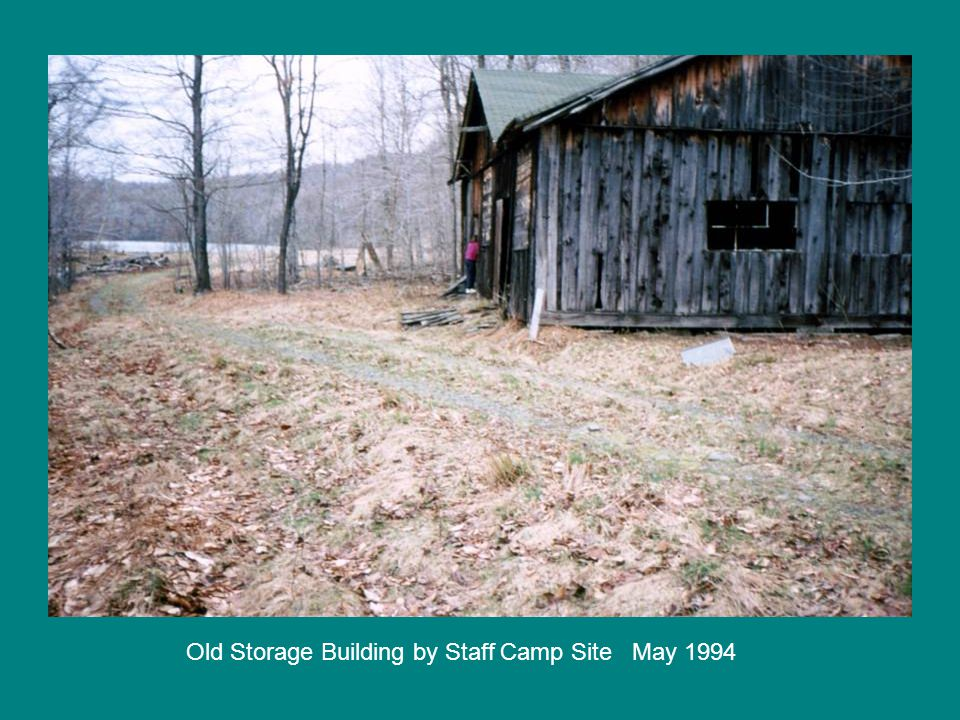 Old Storage Building by Staff Camp Site May 1994