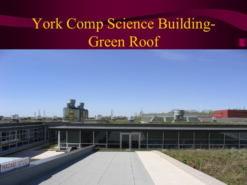 York Comp Science Building- Green Roof