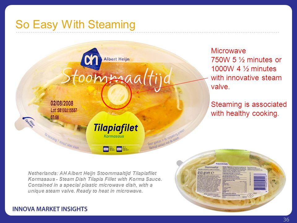 So Easy With Steaming Netherlands: AH Albert Heijn Stoommaaltijd Tilapiafilet Kormasaus - Steam Dish Tilapia Fillet with Korma Sauce. Contained in a s