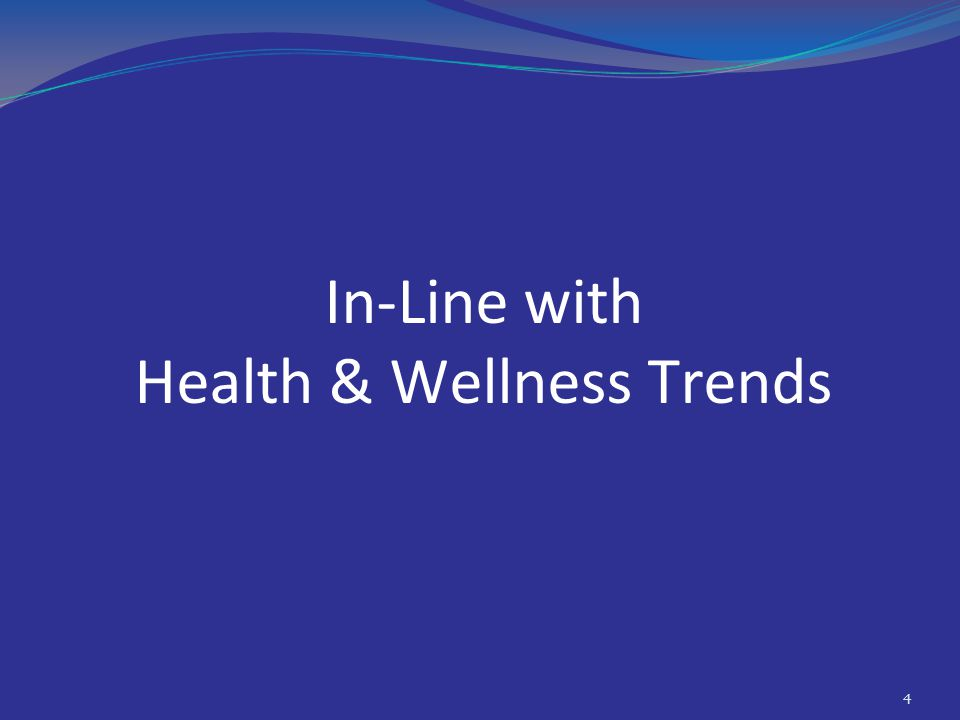 In-Line with Health & Wellness Trends 4
