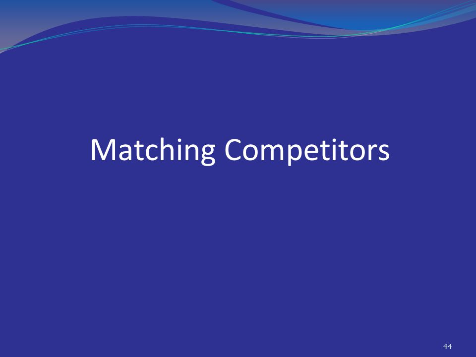 Matching Competitors 44