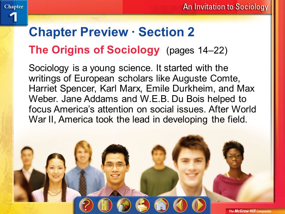 Chapter Preview 3 Chapter Preview · Section 3 Theoretical Perspectives (pages 23–31) Sociology includes three major theoretical perspectives.
