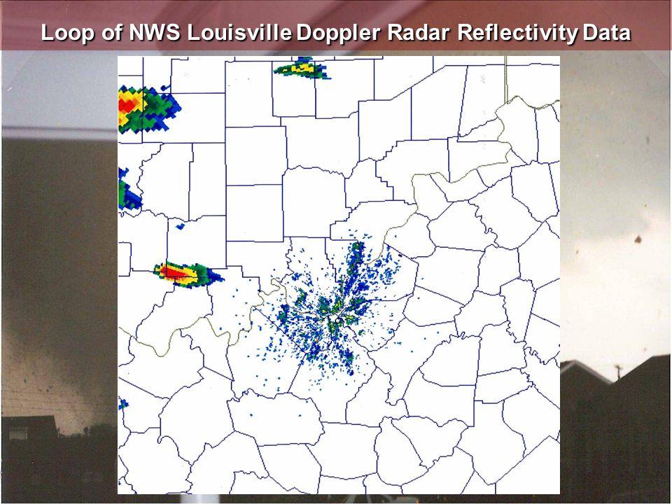 Loop of NWS Louisville Doppler Radar Reflectivity Data