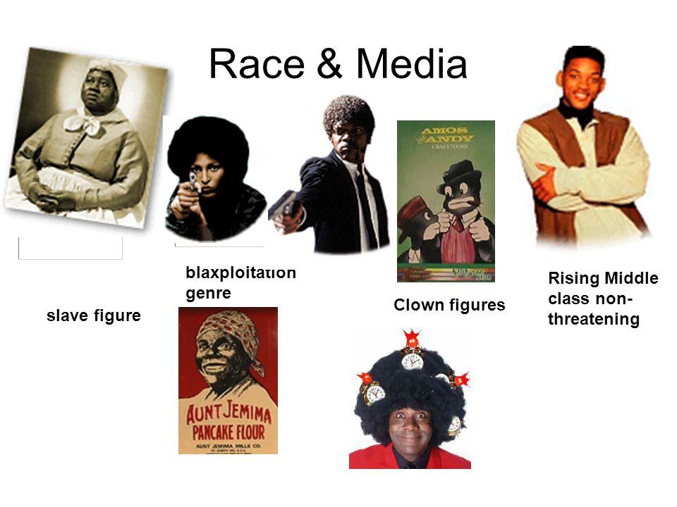 Race & Media slave figure Clown figures Rising Middle class non- threatening blaxploitation genre