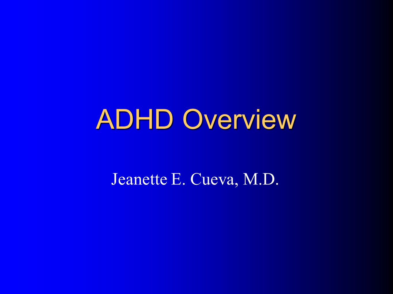 Inattention Impulsivity/Hyperactivity ADHD: Core Symptom Areas