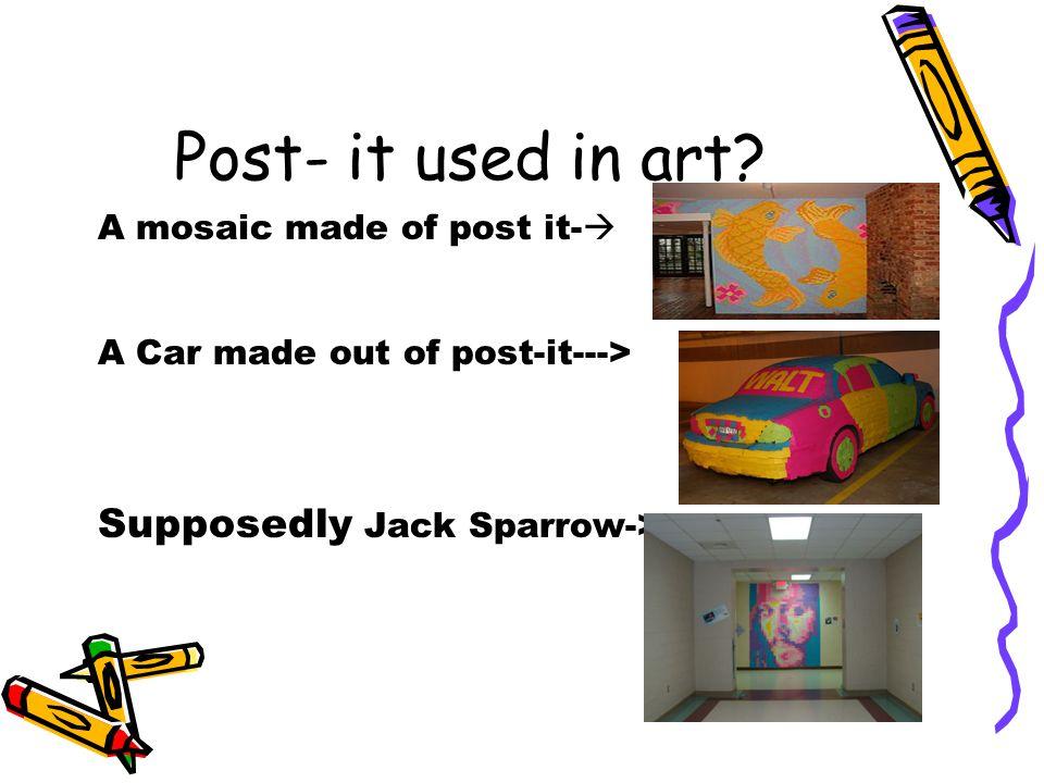 Post- it used in art.
