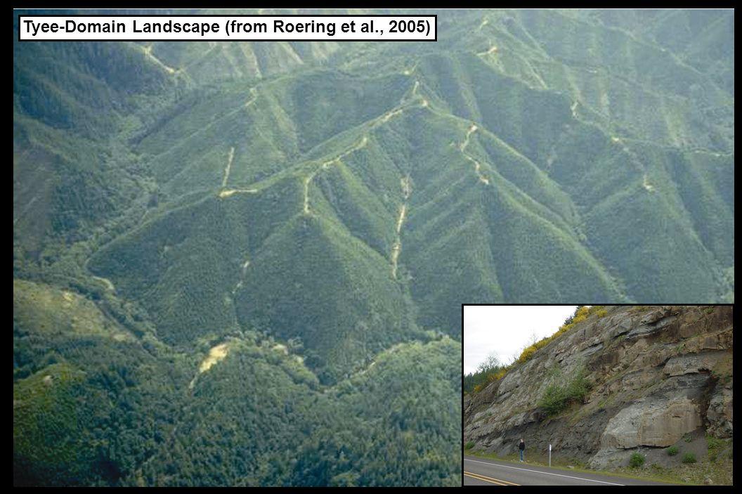 Tyee-Domain Landscape (from Roering et al., 2005)