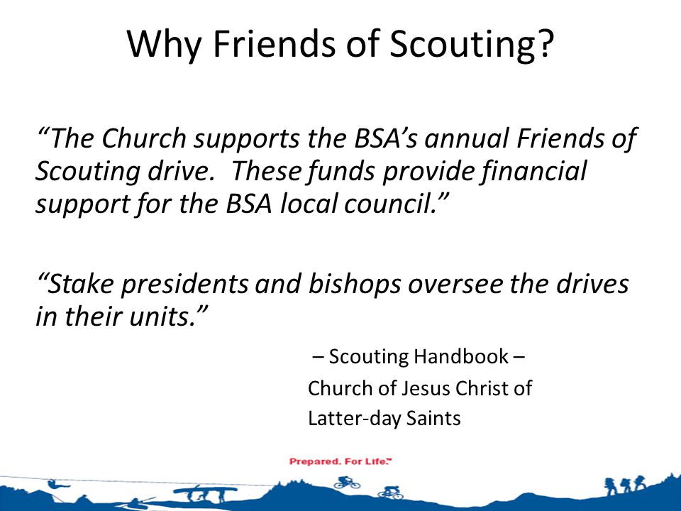 - Close Out Stage - Collect money and turn into BSA Council office (Friday, March 6 th for Full Incentives) Announcement #3 in ward bulletin (March 1 st ) Formal Thank You & report to Priesthood, Relief Society, and Primary (March 1 st ) Collect any additional money that comes in