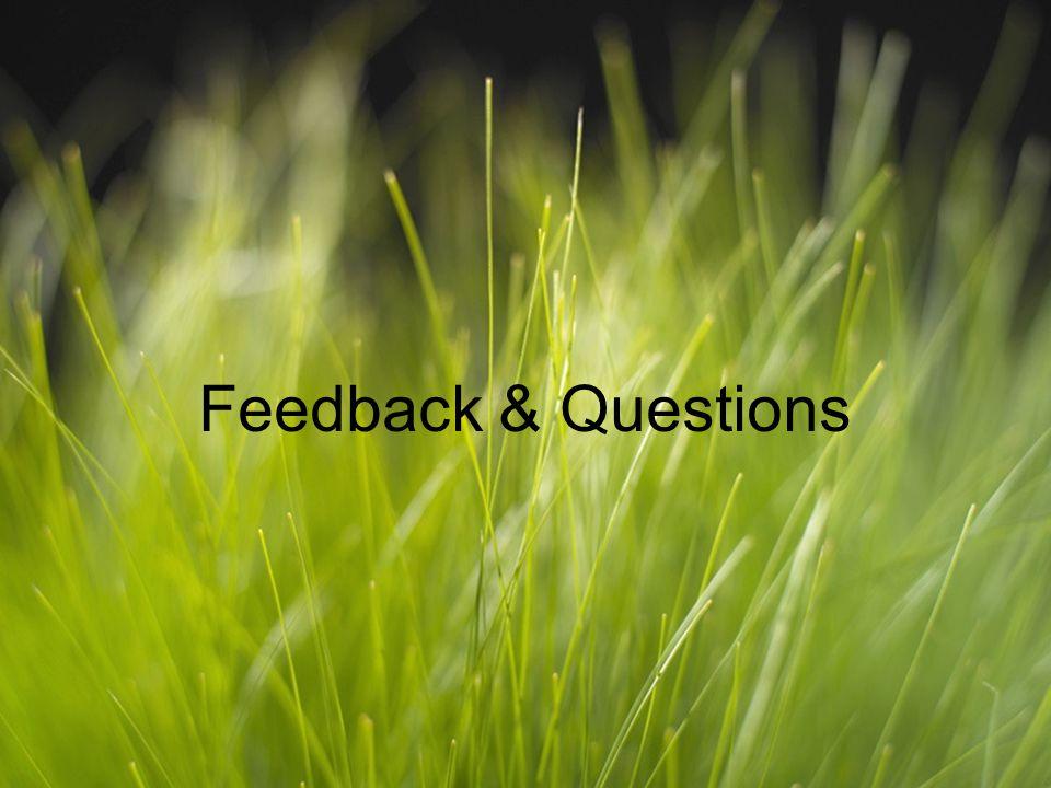 Feedback & Questions
