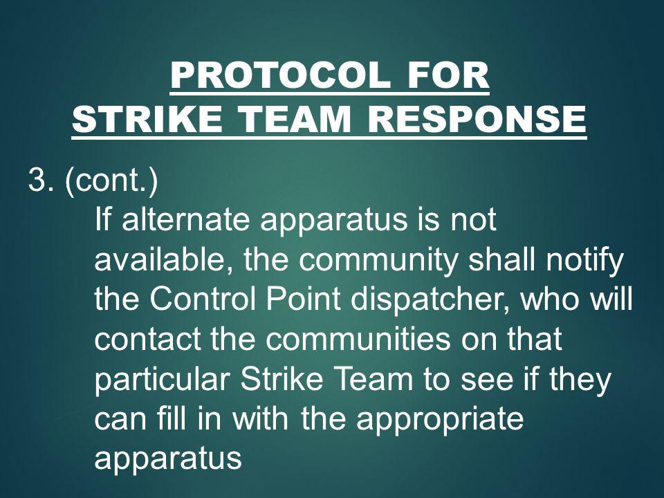 PROTOCOL FOR STRIKE TEAM RESPONSE 3.