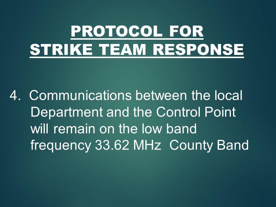 PROTOCOL FOR STRIKE TEAM RESPONSE 4.