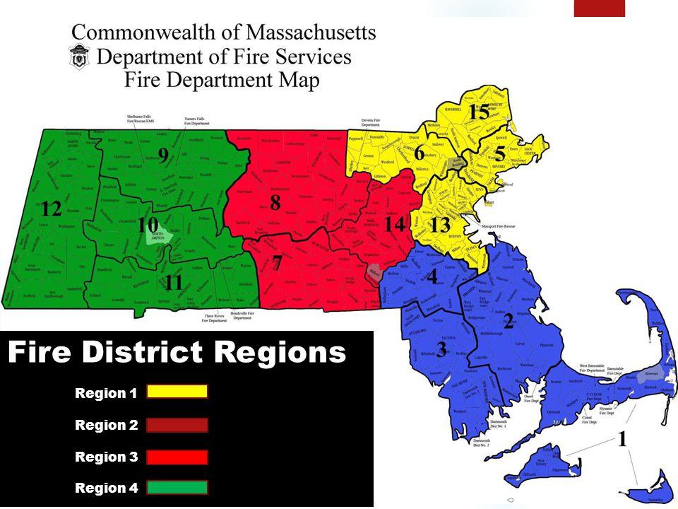 Fire District Regions Region 1 Region 2 Region 3 Region 4