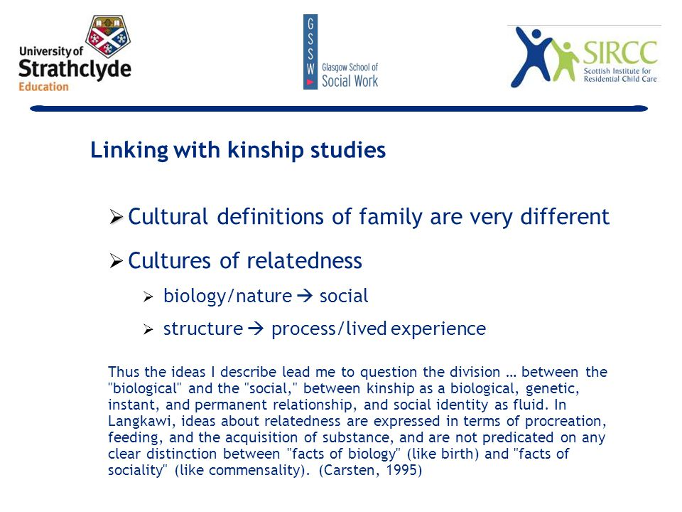   anthropological and sociological studies of gay and lesbian kinship   disruptions to, and severance of, kinship ties experienced by gays who declare their homosexuality to their families.