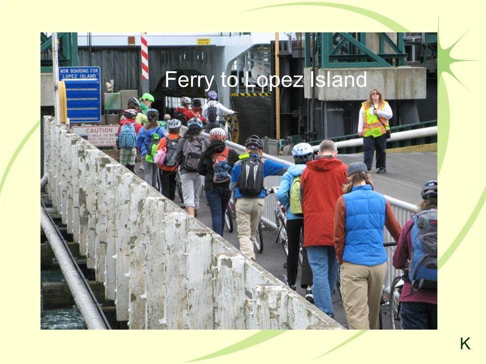 Ferry to Lopez Island K