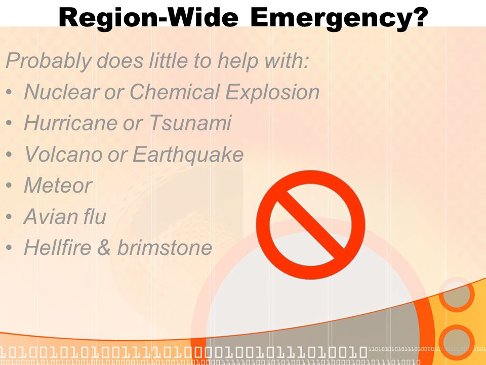 Region-Wide Emergency.