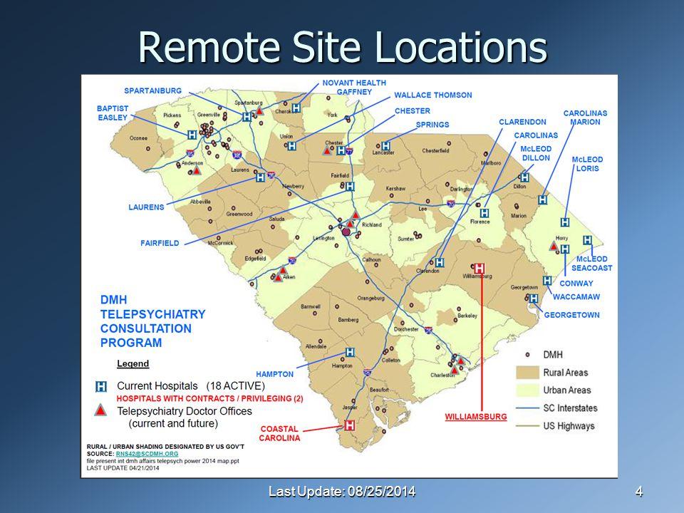 Last Update: 08/25/20144 Remote Site Locations