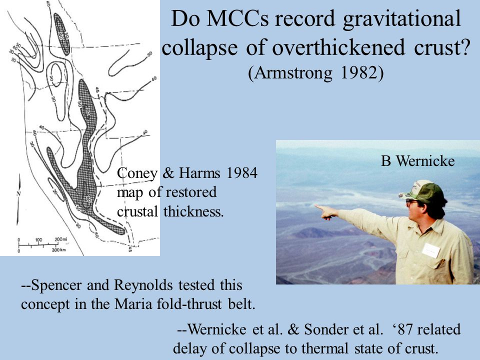 Do MCCs record gravitational collapse of overthickened crust.