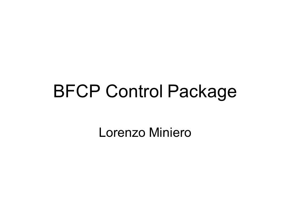 BFCP Control Package Lorenzo Miniero
