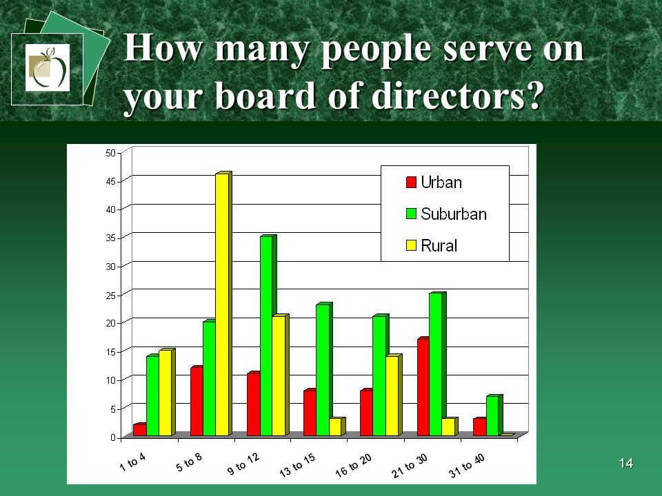 14 How many people serve on your board of directors