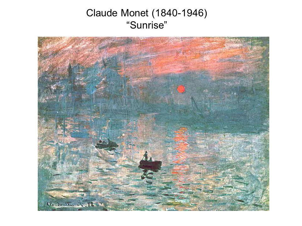 """Claude Monet (1840-1946) """"Sunrise"""""""