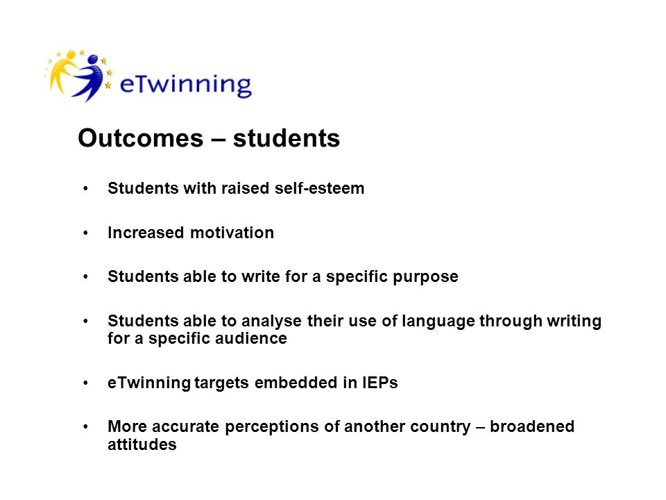 Objectives To enhance cultural awareness To improve all aspects of literacy with particular emphasis on writing for a specific audience To encourage the use of simple digital multimedia applications by partnership students