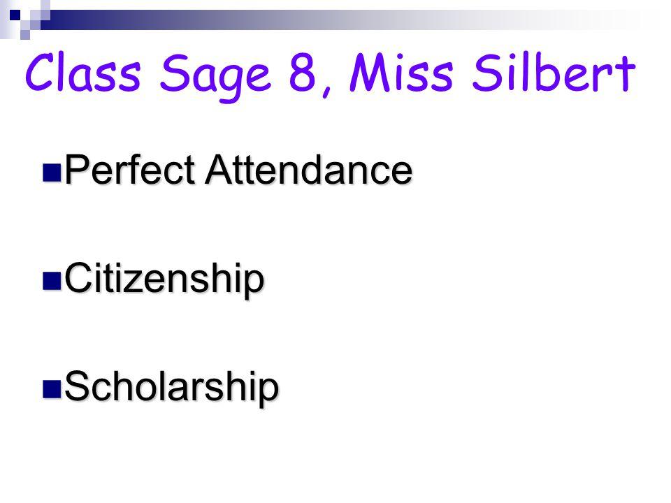 Perfect Attendance Citizenship Scholarship Class 82, Mr. McLean