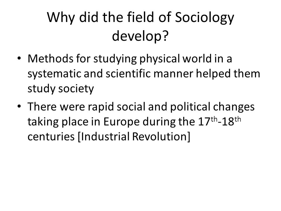 Industrial Revolution Instead of farms and cottage industries, they changed to large-scale production With factories came growth of cities and paid employment With urban population came social problems like housing shortages, unemployment, crime, pollution, impersonality So couldn't ignore impact of society o n individual … individual liberties and freedoms became the focus then of Revolutions [like American and French]