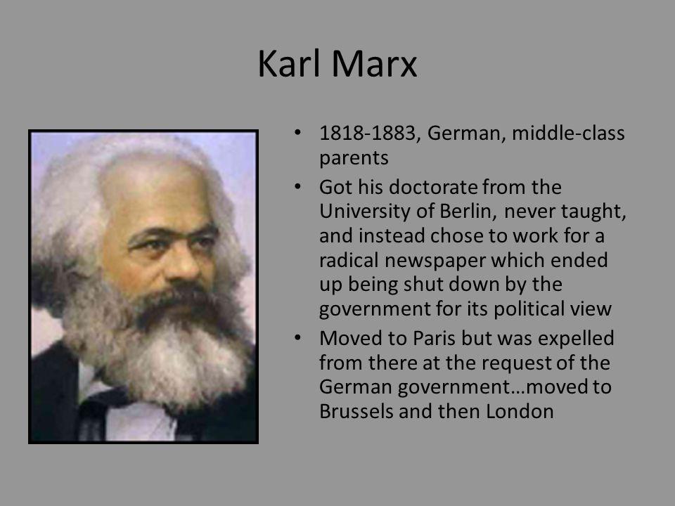 Marx Cont.