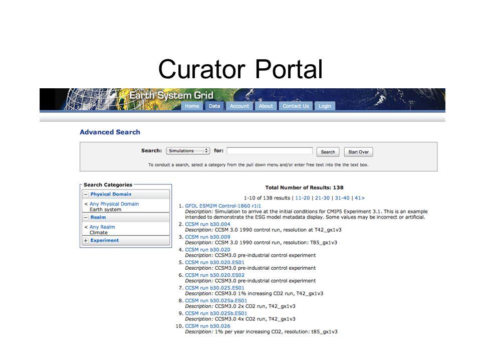 Curator Portal