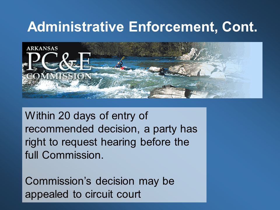 Within 20 days of entry of recommended decision, a party has right to request hearing before the full Commission.