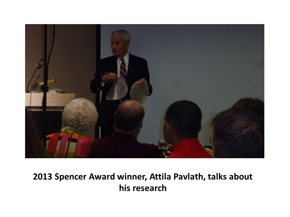 2013 Spencer Award winner, Attila Pavlath, talks about his research
