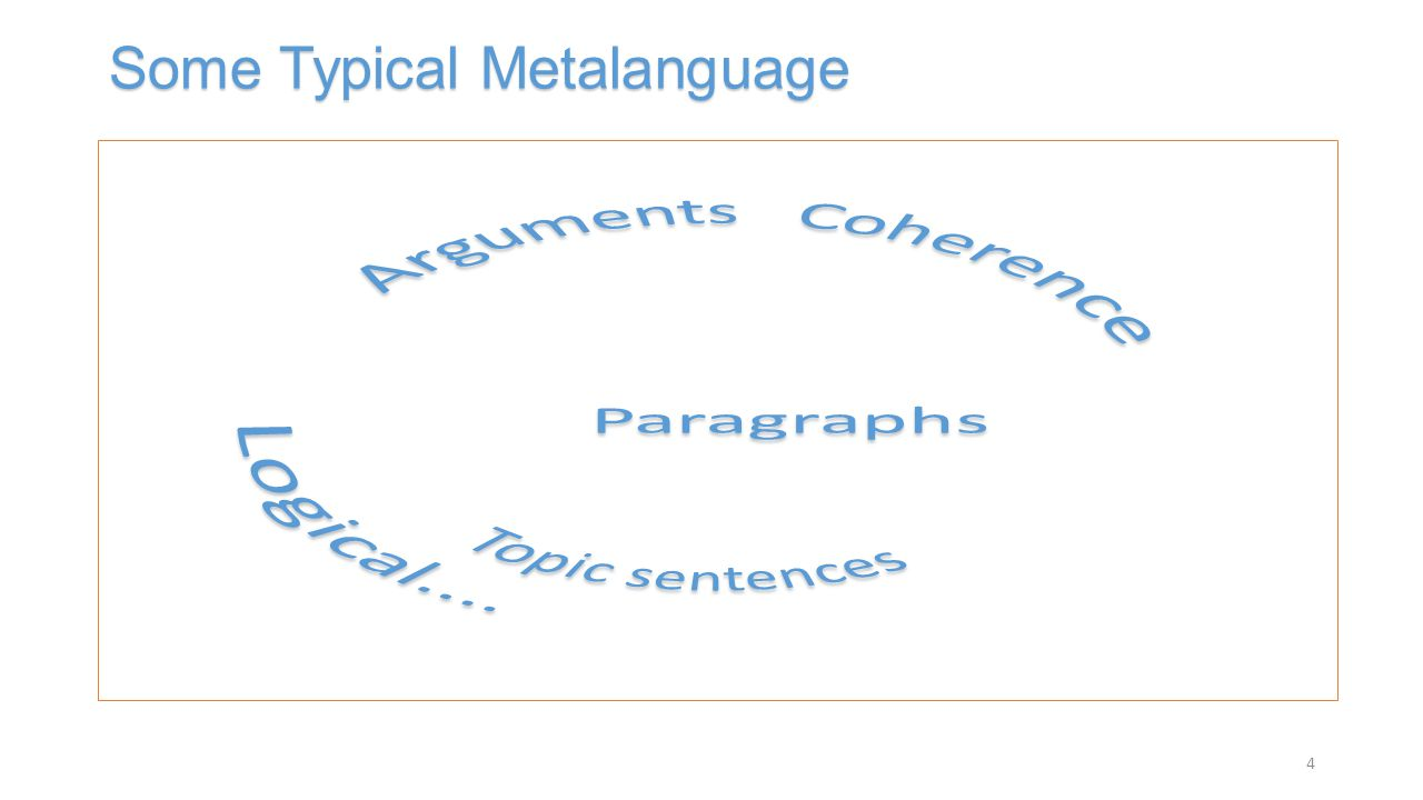 Some Typical Metalanguage 4