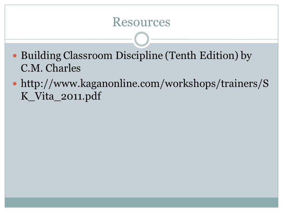 Resources Building Classroom Discipline (Tenth Edition) by C.M.