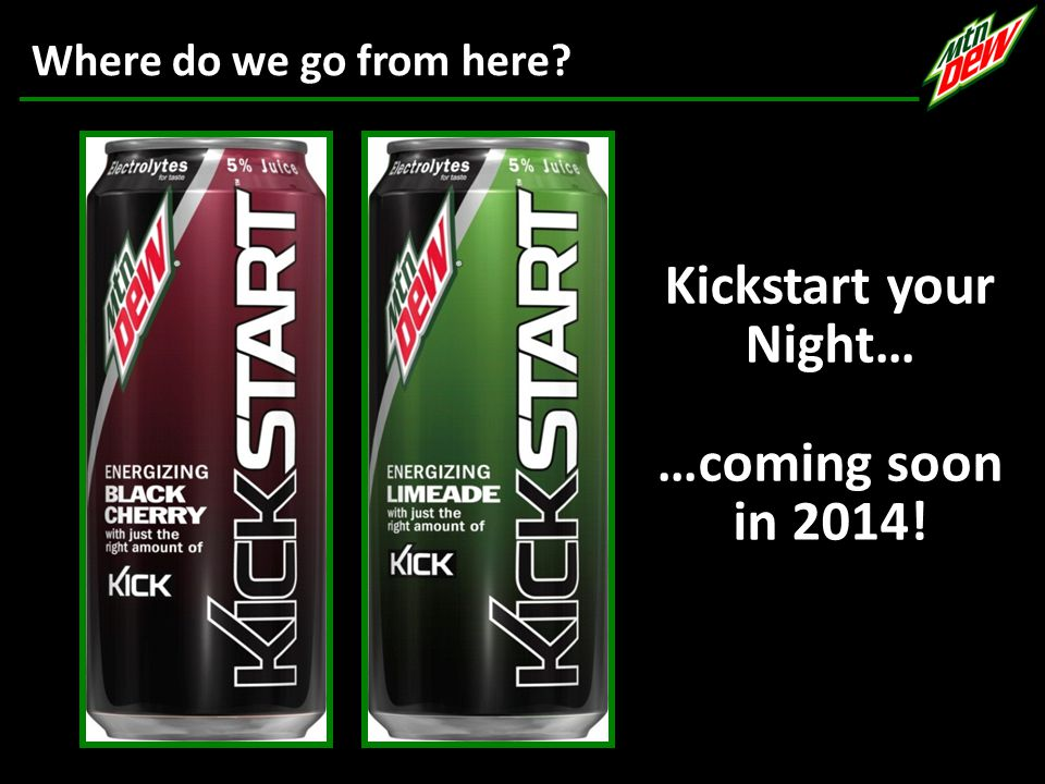 Kickstart your Night… …coming soon in 2014! Where do we go from here