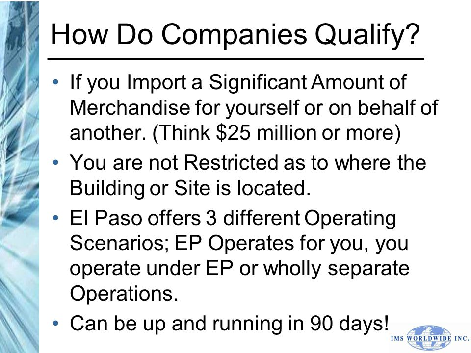 How Do Companies Qualify.