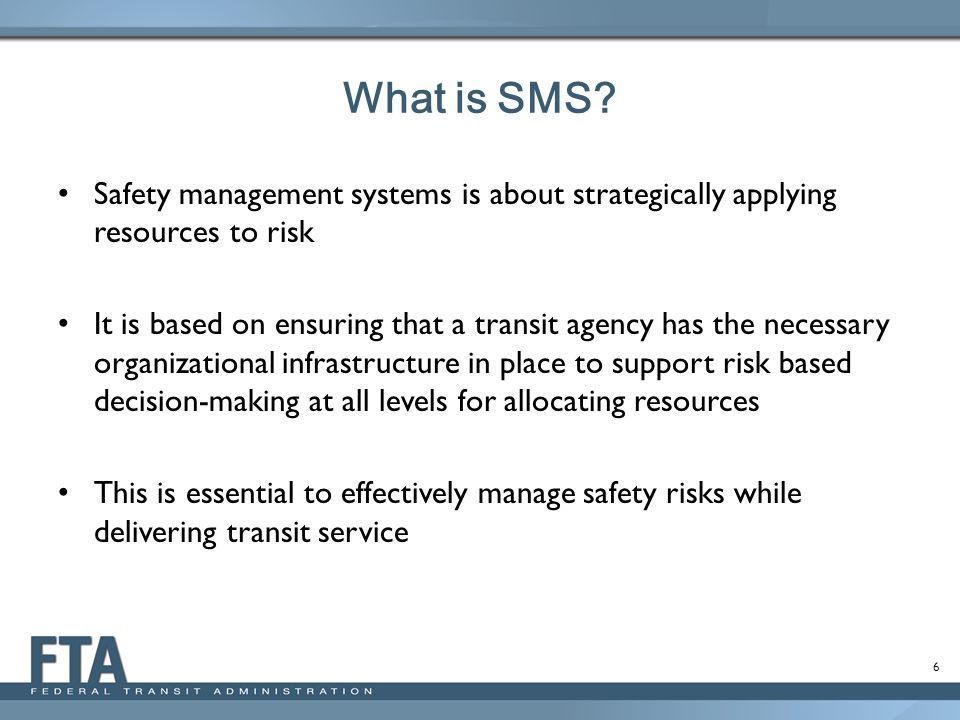 17 Draft and publish Notice of Proposed Rulemakings Issue Interim Provisions for the Safety Certification Training Program Conduct Outreach at Industry Conferences Initiate Transit Agency SMS Implementation Pilot Program Continue Piloting SMS Training Courses Continue the Development of an Effective State Safety Oversight (SSO) Certification and Grant Program Next Steps