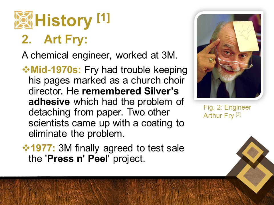 History [1] 2.Art Fry: A chemical engineer, worked at 3M.