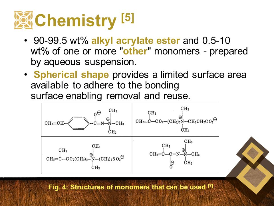 90-99.5 wt% alkyl acrylate ester and 0.5-10 wt% of one or more other monomers - prepared by aqueous suspension.