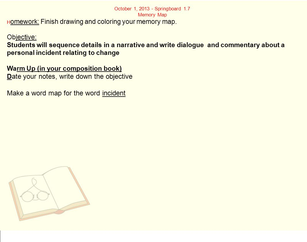 Step 4: Fi ll in sensory details and dialogue for the beginning, middle and end.