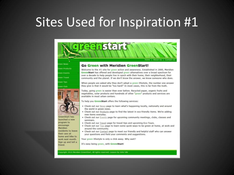 Sites Used for Inspiration #1