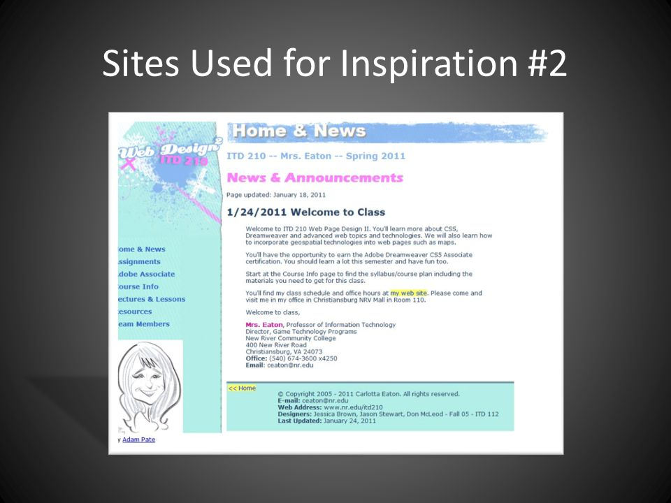Sites Used for Inspiration #2