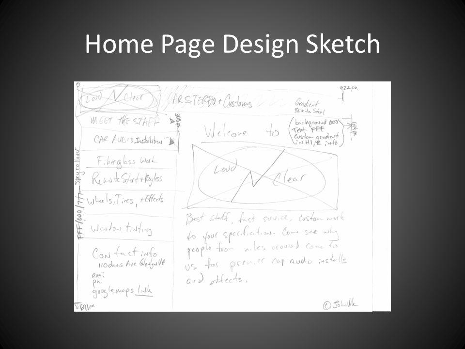 Home Page Design Sketch