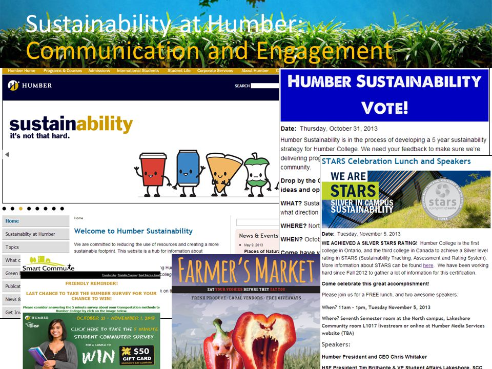 Sustainability at Humber: Communication and Engagement