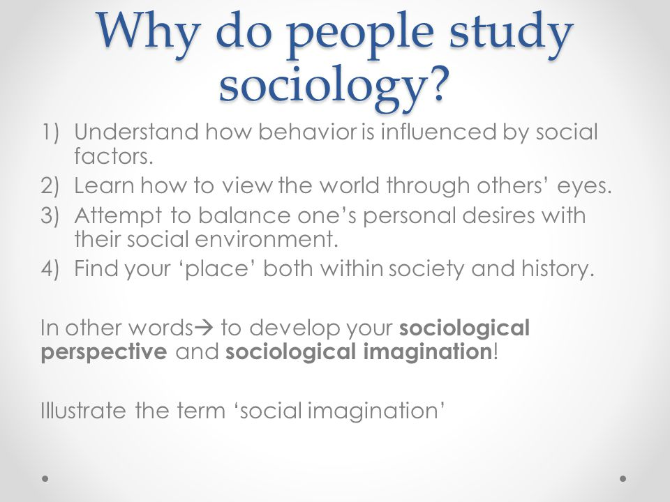 Sociology Topics For Essay